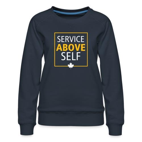 Service Above Self - Women's Premium Sweatshirt