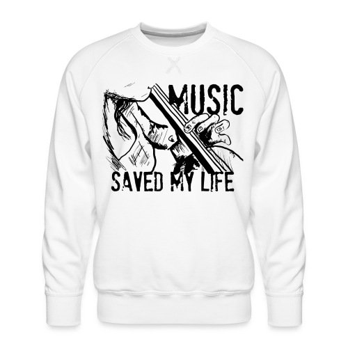 music is live - Men's Premium Sweatshirt