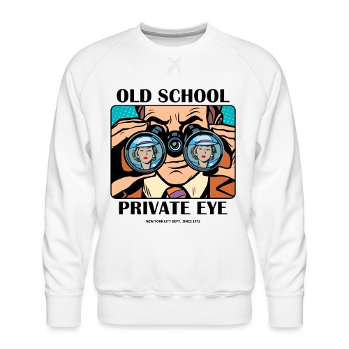 old school vintage retro - Men's Premium Sweatshirt