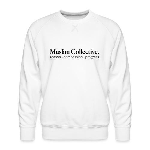 Muslim Collective Logo + tagline - Men's Premium Sweatshirt