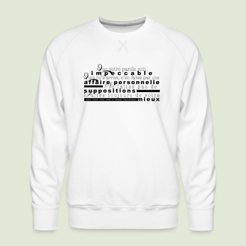 4 Accords Toltèques - Men's Premium Sweatshirt