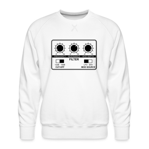 Synth Filter with Knobs - Men's Premium Sweatshirt
