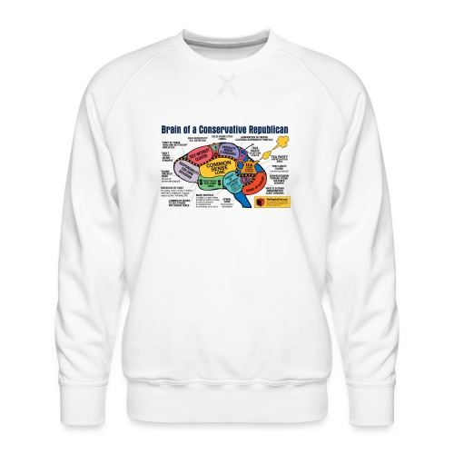 Brain of a Conservative Republican - Men's Premium Sweatshirt