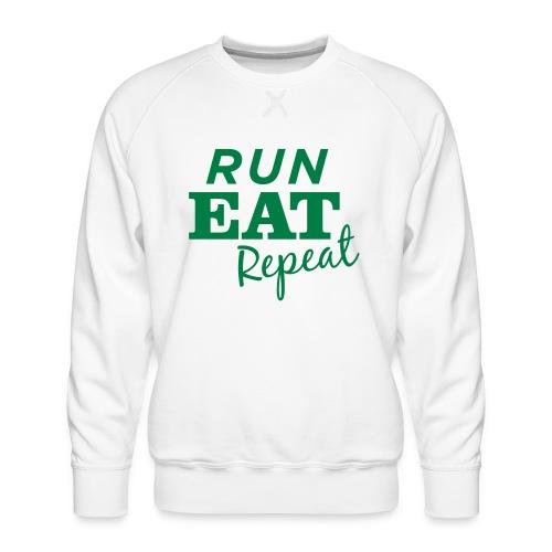 Run Eat Repeat buttons medium - Men's Premium Sweatshirt