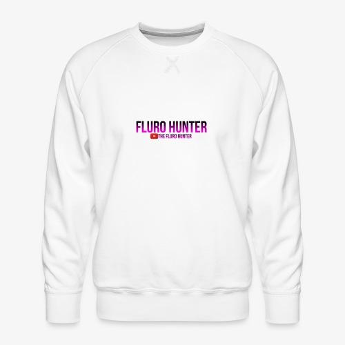 The Fluro Hunter Black And Purple Gradient - Men's Premium Sweatshirt