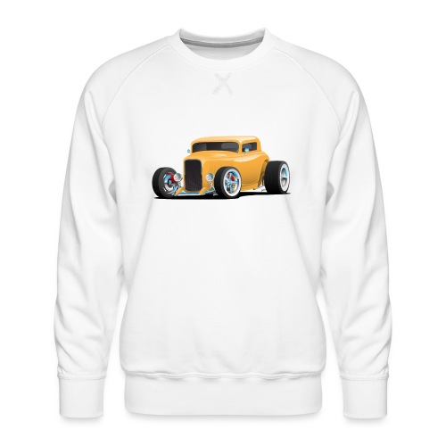 Classic American 32 Hotrod Car Illustration - Men's Premium Sweatshirt