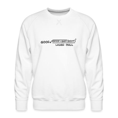 gaff text transparent - Men's Premium Sweatshirt