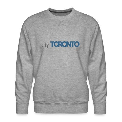 cityTorontoLogoNEW.png - Men's Premium Sweatshirt