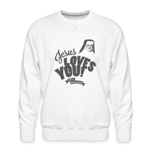 Classic Mother Angelica Dark - Men's Premium Sweatshirt