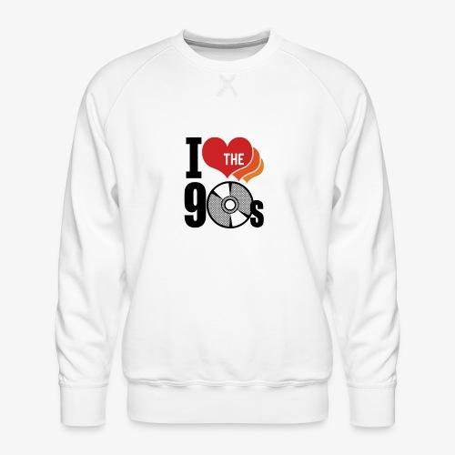 I love the 90s - Men's Premium Sweatshirt