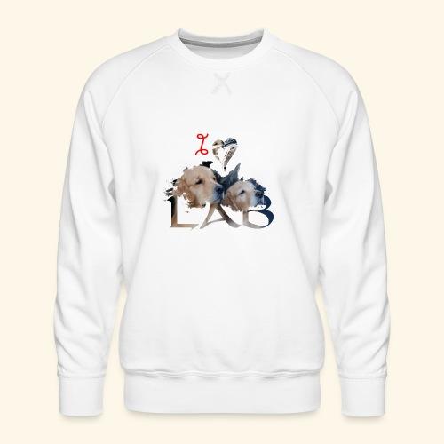 I love Lab - Men's Premium Sweatshirt