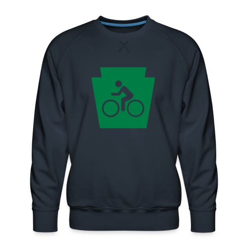 PA Keystone w/Bike (bicycle) - Men's Premium Sweatshirt