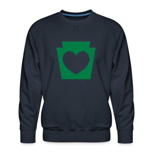 Love/Heart PA Keystone - Men's Premium Sweatshirt
