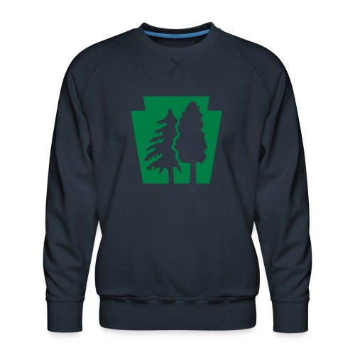 PA Keystone w/trees - Men's Premium Sweatshirt