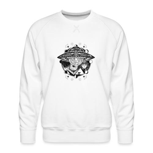 Egyptian Pharaoh Pyramid Alien UFO - Men's Premium Sweatshirt
