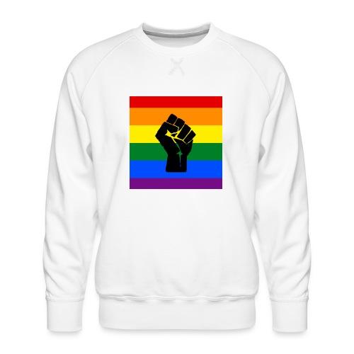 BLM Pride Rainbow Black Lives Matter - Men's Premium Sweatshirt