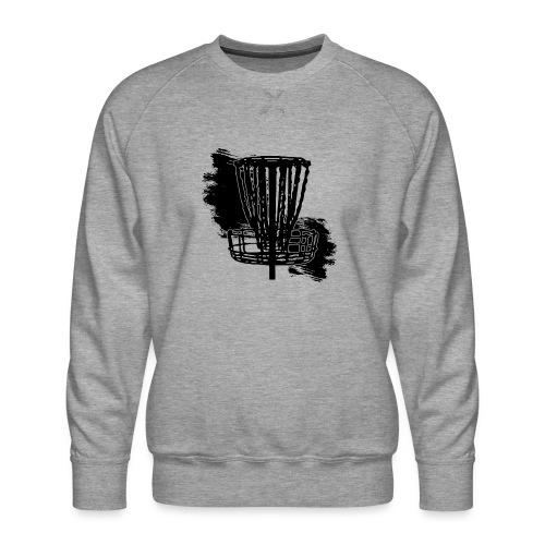 Disc Golf Basket Paint Black Print - Men's Premium Sweatshirt