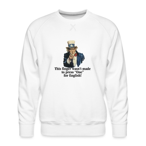 Uncle Sam - Finger - Men's Premium Sweatshirt