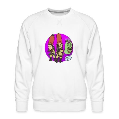 memebusters anotha one purple - Men's Premium Sweatshirt