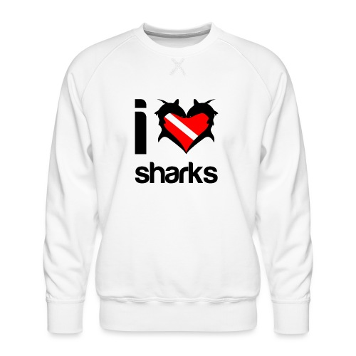 I Love Sharks - Men's Premium Sweatshirt