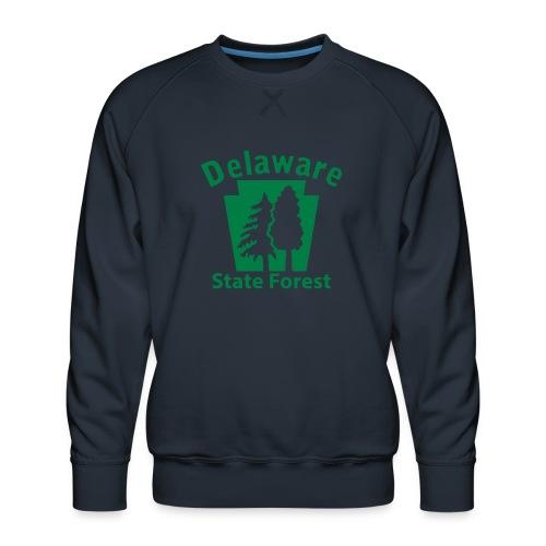 Delaware State Forest Keystone (w/trees) - Men's Premium Sweatshirt