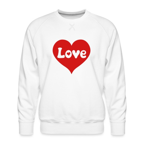 Love Heart - Men's Premium Sweatshirt