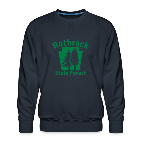 Rothrock State Forest Keystone (w/trees) - Men's Premium Sweatshirt