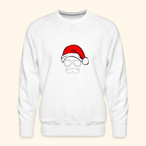 Santa with Geek and Mustache - Men's Premium Sweatshirt