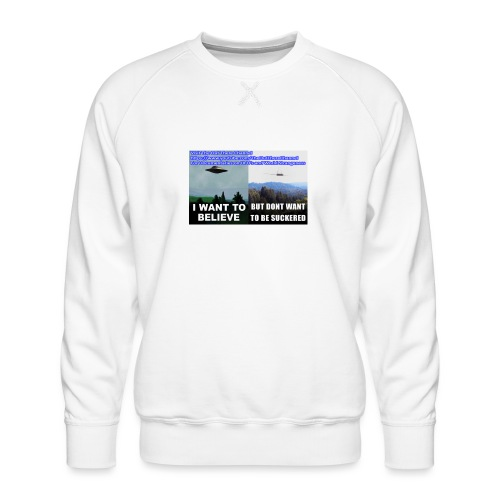 tshirt i want to believe - Men's Premium Sweatshirt