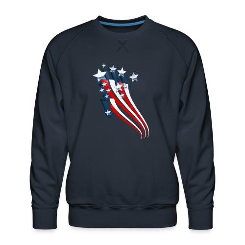 Sweeping American Flag - Men's Premium Sweatshirt