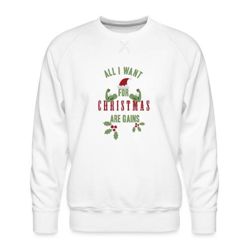 All i want for christmas - Men's Premium Sweatshirt