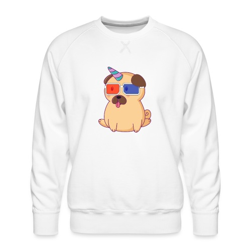 Dog with 3D glasses doing Vision Therapy! - Men's Premium Sweatshirt