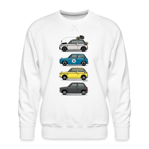 Stack of Vintage Honda N360 N600 Kei Cars - Men's Premium Sweatshirt