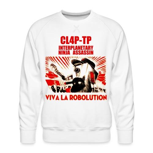 Claptrap Viva la Robolution - Men's Premium Sweatshirt