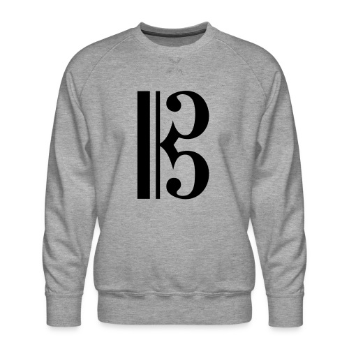 Tenor/Alto Clef - Men's Premium Sweatshirt