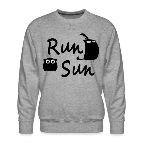 Run Sun Logo - Men's Premium Sweatshirt