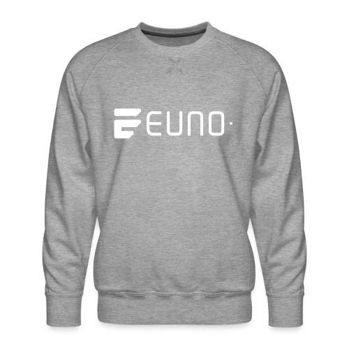 EUNO LOGO LANDSCAPE WHITE - Men's Premium Sweatshirt