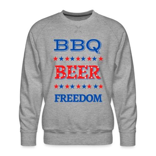 BBQ BEER FREEDOM - Men's Premium Sweatshirt