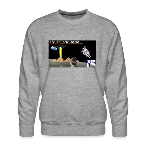 UFO-Pyramids-TheOutThereChannel-TubeLogo2017 - Men's Premium Sweatshirt