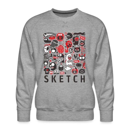 animals sketch design monsters - Men's Premium Sweatshirt