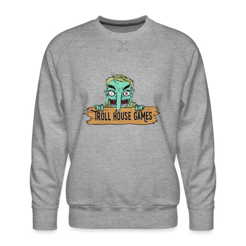 Troll House Games Cartoon Logo - Men's Premium Sweatshirt