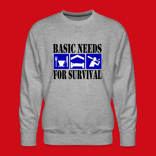 Softball/Baseball Basic Needs - Men's Premium Sweatshirt