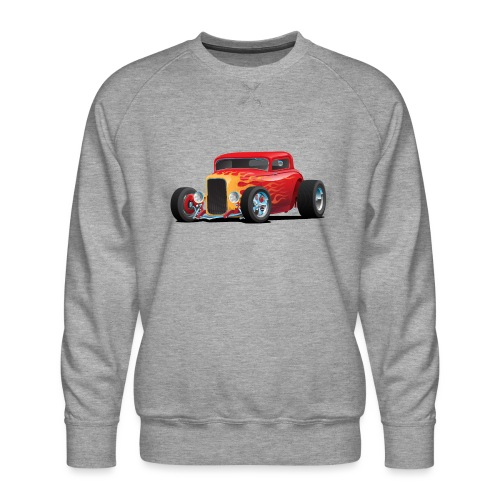 Classic Bold Red Custom Street Rod - Men's Premium Sweatshirt