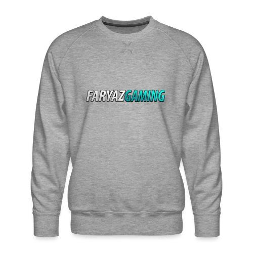 FaryazGaming Theme Text - Men's Premium Sweatshirt