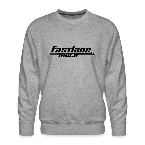 Fast Lane Daily logo - Men's Premium Sweatshirt