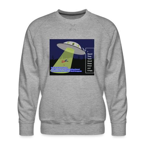 Tshirt alien abduction Joke - Men's Premium Sweatshirt