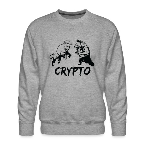 CryptoBattle Black - Men's Premium Sweatshirt
