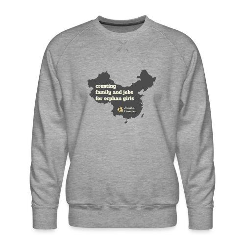 Josiah's Covenant - map - Men's Premium Sweatshirt
