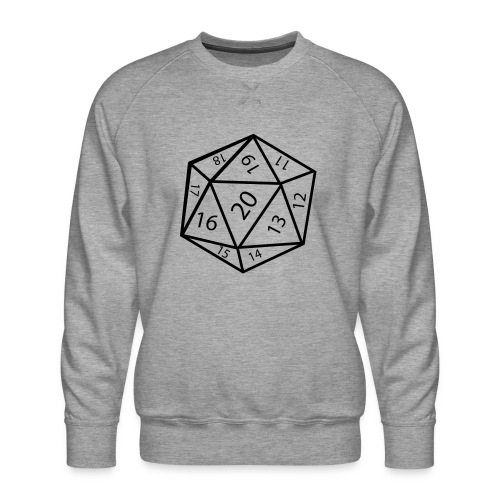 20_sided_dice - Men's Premium Sweatshirt