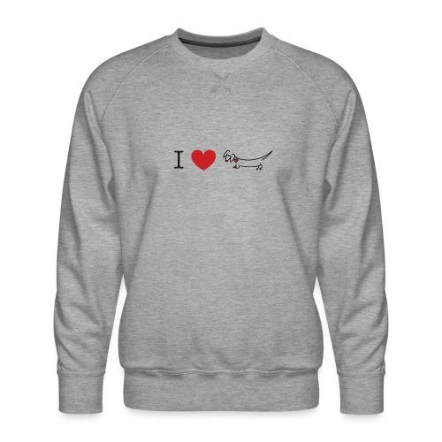 I love Dachshund - Men's Premium Sweatshirt